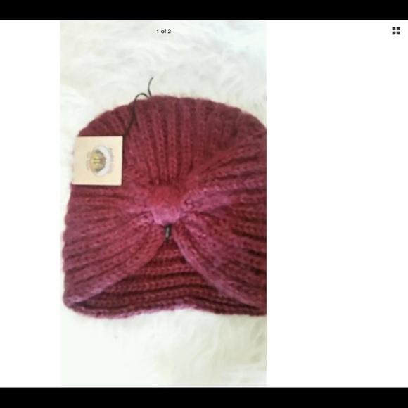e61f2e4b2 Alpaca Hat Fair Trade Peru Burgundy Andes Gifts NWT